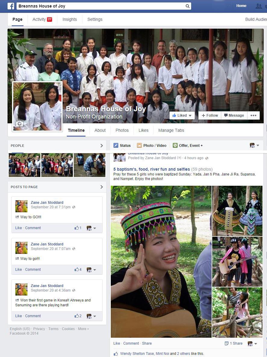 FB BHJ web page